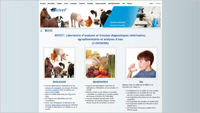 Exemple site Web Biovet