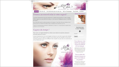 Exemple site Web Miss Cilia
