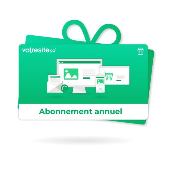 Certificat-cadeau - Abonnement annuel